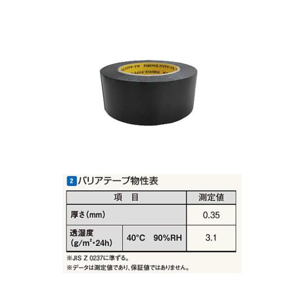 フクビ バリアテープ R 0.35mm×50mm×20m BRTR 16巻