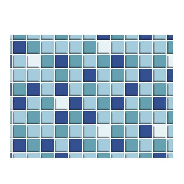 明和グラビア 貼ってはがせる デコタイルシート ロール物 DGT-05 モザイクタイル ブルー 40cm×15m 217850