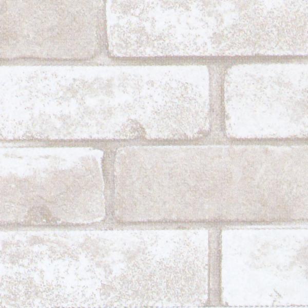 床材 明和グラビア スタイリッシュフローリン(ロール物) 91cm幅×20m巻 SFR-03 レンガ ホワイト 229037