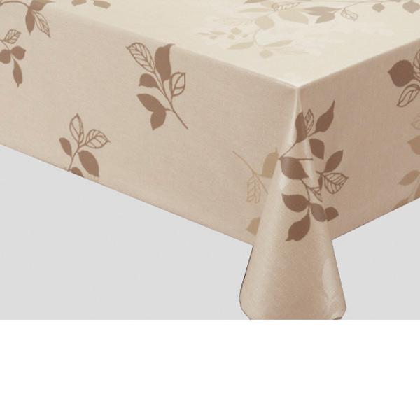 入荷次第 明和グラビア テーブルクロス ロール物 高風合いクロス ブラウン 130cm幅×15m巻 FRD-101 204034