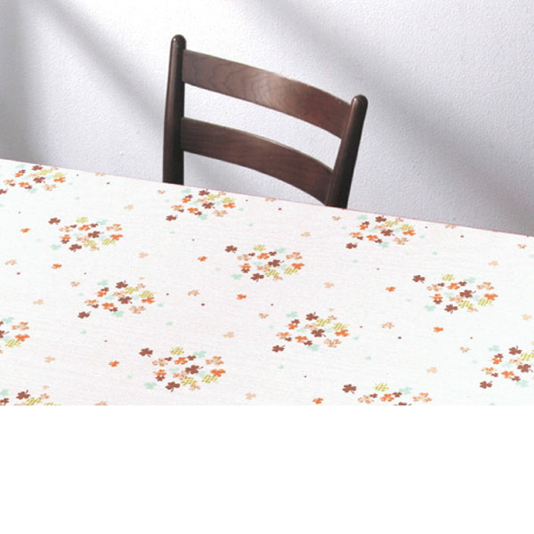 明和グラビア テーブルクロス ロール物 ズレないテーブルシート オレンジ 90cm幅×20m巻 KTC-100 191563