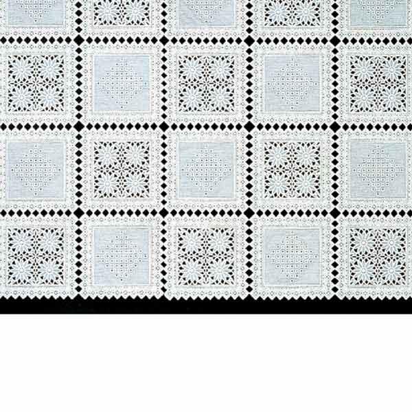 明和グラビア テーブルセンター ロングレース ホワイト 40cm幅×20m巻 M-198 121614