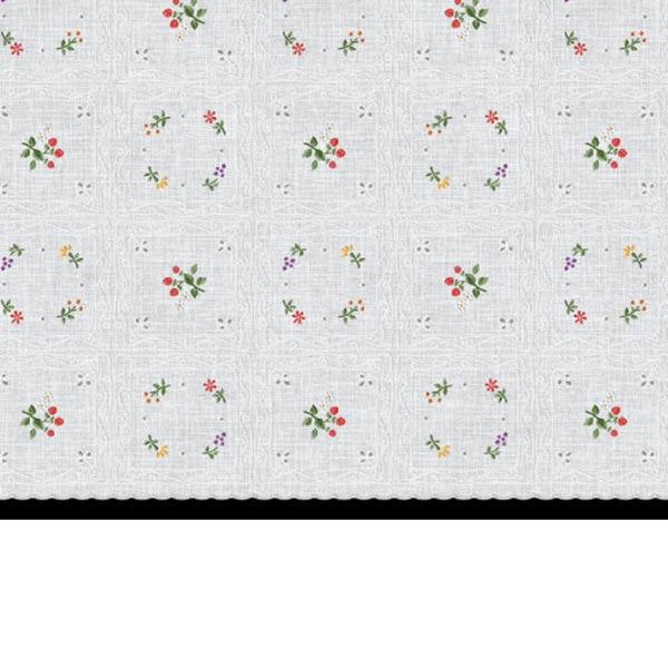 明和グラビア テーブルセンター ロングレース レッド 40cm幅×20m巻 M-489 88870