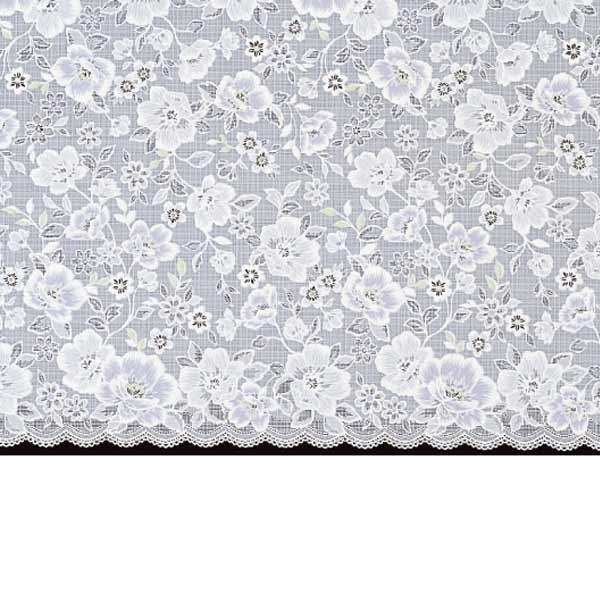 明和グラビア テーブルセンター ロングレース ライトパープル 40cm幅×20m巻 M-494 121799