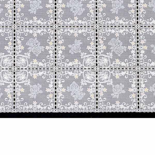 明和グラビア テーブルセンター ロングレース オレンジ 40cm幅×20m巻 M-497 133686