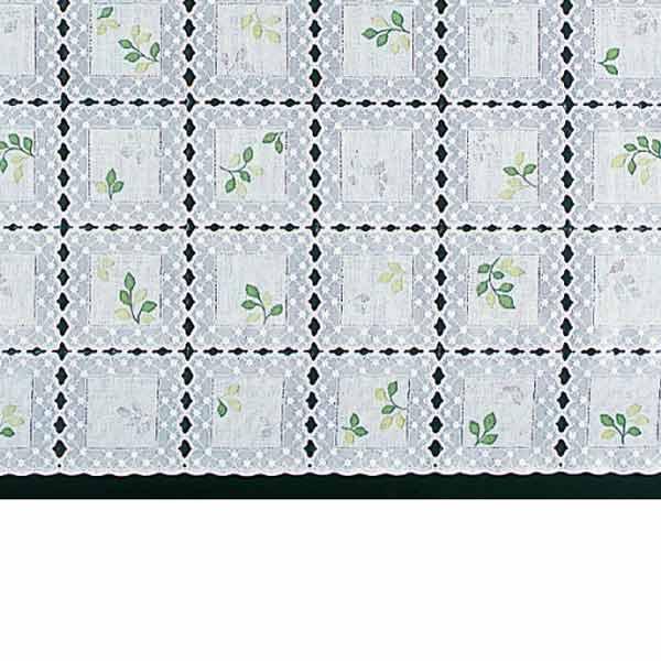 明和グラビア テーブルセンター ロングレース グリーン 40cm幅×20m巻 M-498 146280