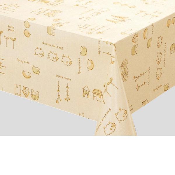 明和グラビア テーブルクロス ロール物 MGフィルム ベージュ 120cm幅×30m巻 MG-6499 123953