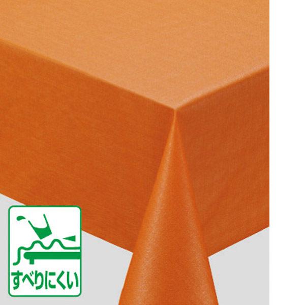 入荷次第 明和グラビア 濃色ダマスク テーブルクロス オレンジ 130cm幅×15m巻 MGD-100 185470