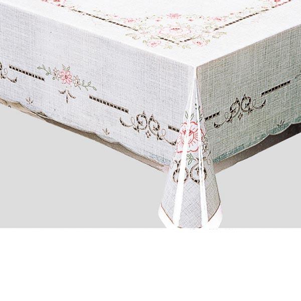 入荷次第 明和グラビア テーブルクロス ロール物 MGプリントレースフィルム ピンク 120cm幅×150cm/20枚巻 PL-1131 441712