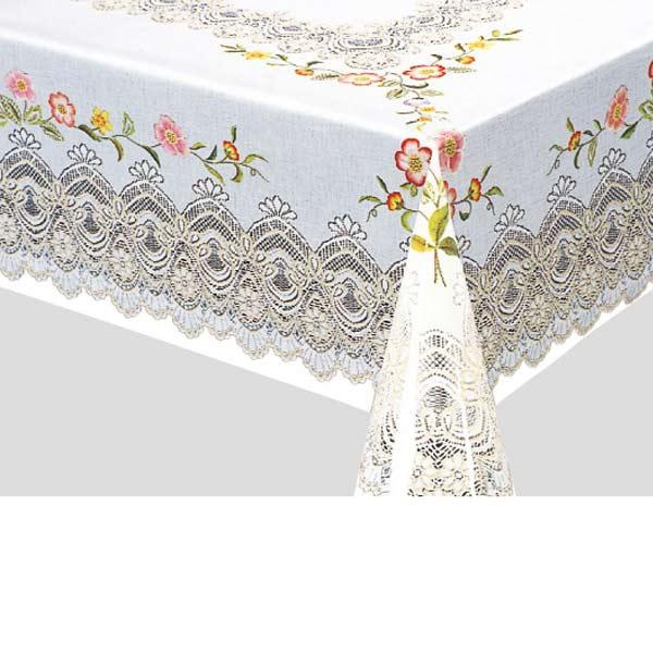 明和グラビア テーブルクロス ロール物 MGプリントレースフィルム ピンク 120cm幅×150cm/20枚巻 PL-1170 112377