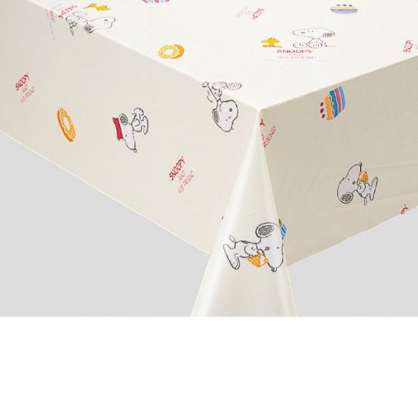 明和グラビア ロール物 キャラクター テーブルクロス スヌーピー・スイーツ オレンジ 130cm幅×20m巻 150829
