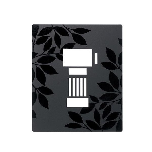 インターホンカバー IPM-1-3 グロスマット 黒色+半ツヤ黒色塗装 GM1