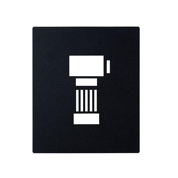 インターホンカバー IPM-1-5 レザー調 ディープブラック塗装 DBK