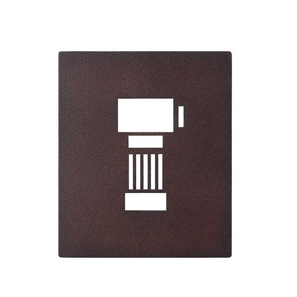 インターホンカバー IPM-1-6 レザー調 ディープボルドー塗装 DBD