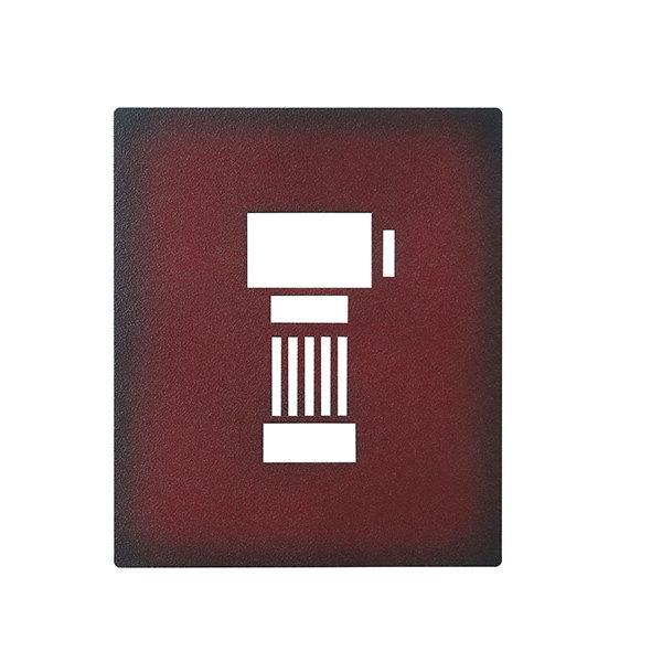 インターホンカバー IPM-1-8 レザー調 ディープカーマイン塗装 DCM