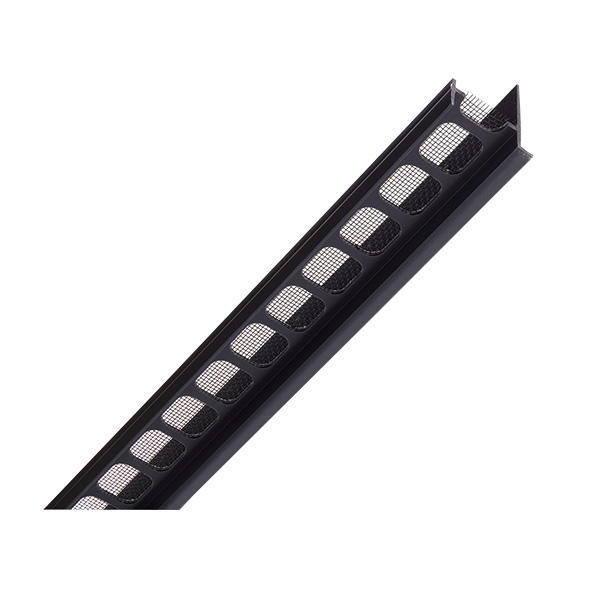 ナスタ 軒天換気口 ブラック KS-0853P サイズ定尺1820mm サラン18メッシュ防虫網 20本