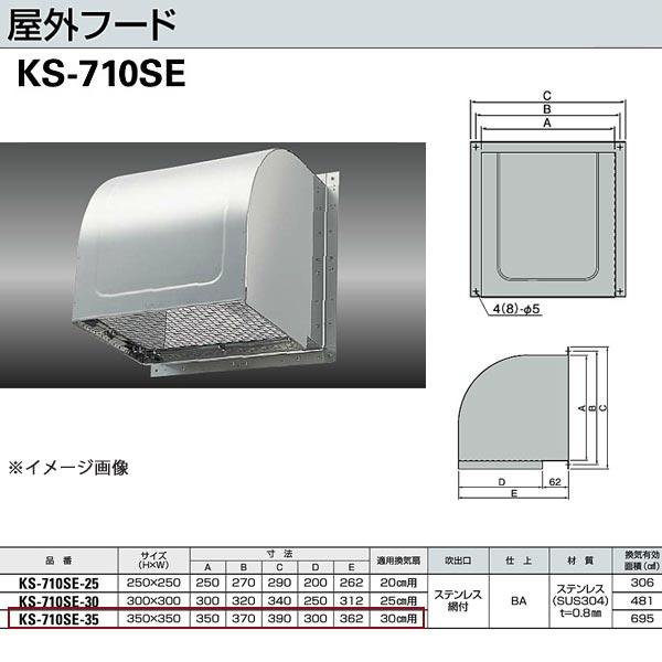 ナスタ 屋外フード KS-710SE-35 H350×W350