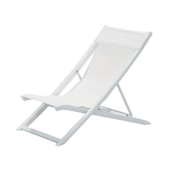 ゴーフィレックス サンセットデッキチェア 096ホワイト+300ホワイト