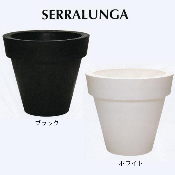 SERRALUNGA ビッグボーポット ブラック/ホワイト 径2000×H1800mm