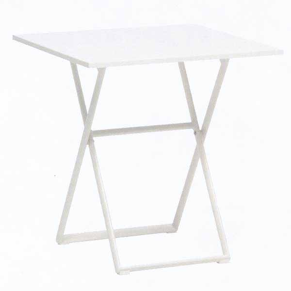 TAPAS イビザフォールディングテーブル70×70/ホワイト W700×D700×H740mm