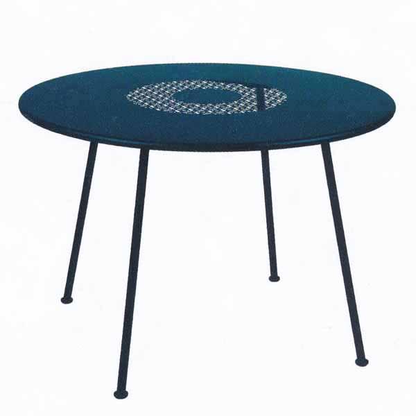 FERMOB ロレットテーブル110R/21アカプルコブルー φ110×H740mm