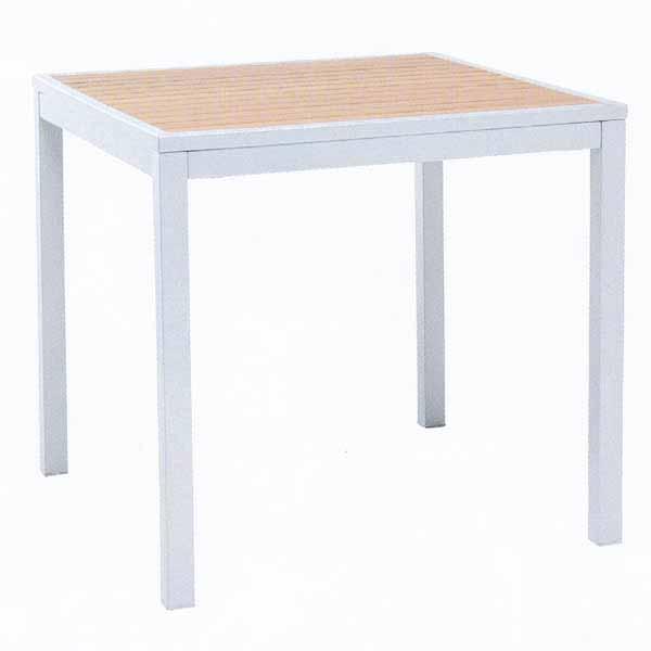 TAPAS MDTテーブル80×80/ポリウッドチーク W800×D800×H755mm