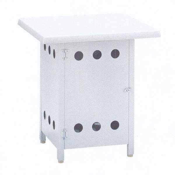 ニチエス バーベキューグリル用 ボンベ収納サイドテーブル NBT-6×6 W600×D600×H650mm
