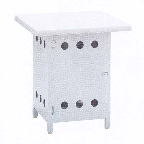 ニチエス バーベキューグリル用 ボンベ収納サイドテーブル NBT-6×6キャスター付 W600×D600×H650mm