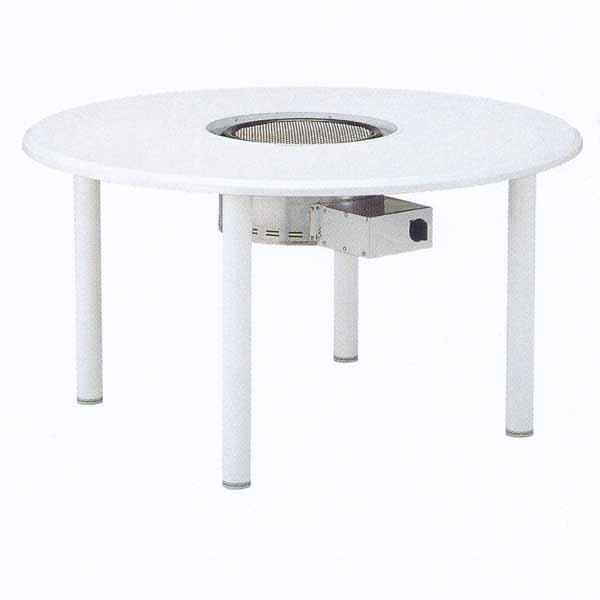 ニチエス バーベキューグリル NWT-1200B2/ホワイト+NBG-LP/Z φ1200×H650mm