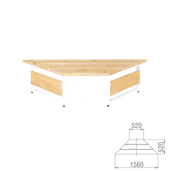 BENCH ウッドストリートフラットベンチ WS-1560 W1560×D520×H390mm