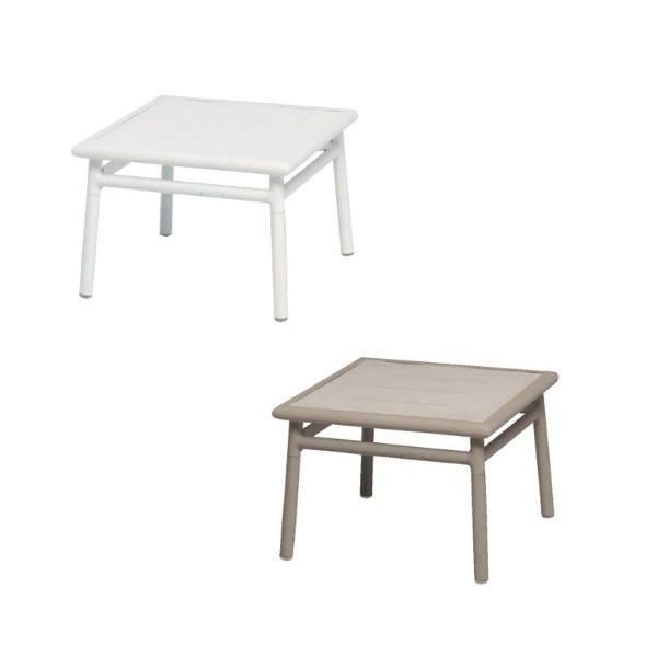 MAIORI NC サイドテーブル 50×50/ホワイト W500×W500×H350mm