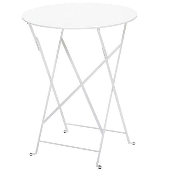 FERMOB ビストロテーブル60/01ホワイト φ600×H740mm