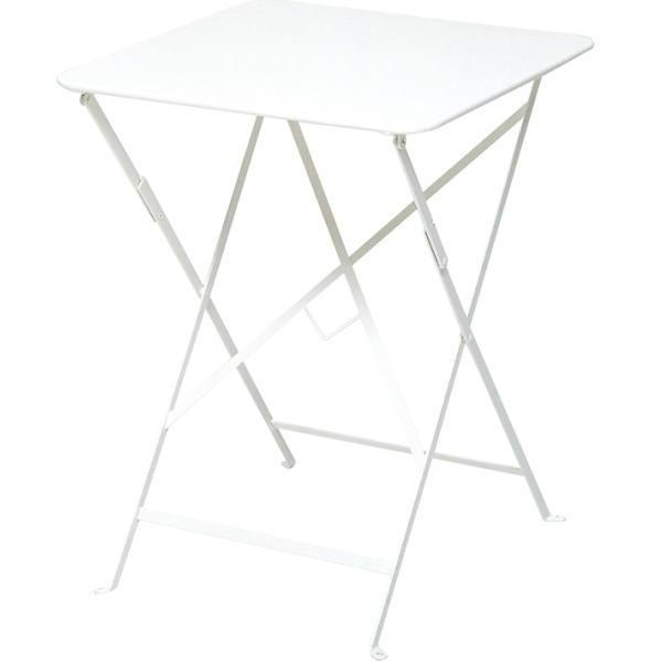 FERMOB ビストロテーブル 57×57/01ホワイト W570×D570×H730mm