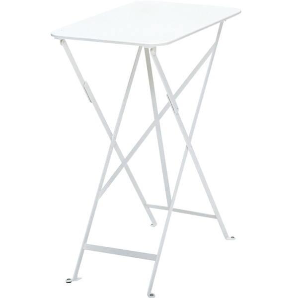 FERMOB ビストロテーブル 37×57/01ホワイト W370×D570×H730mm