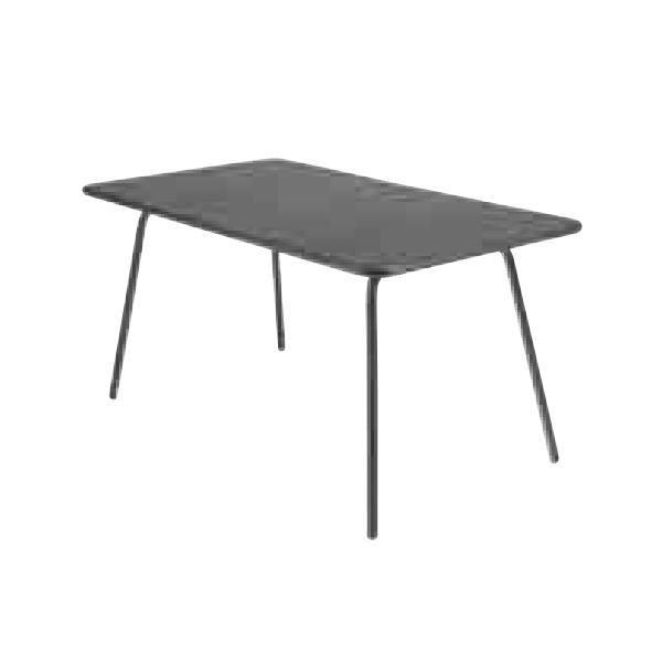 FERMOB ルクセンブールテーブル 80×143/47アンスラサイト W1400×D800×H740mm