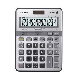 カシオ 本格実務電卓 日数&時間計算タイプ14桁 DS-3DB 1台