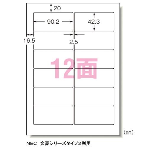 エーワン 1箱 パソコンラベルNEC12面 31152 エーワン 31152 1箱, マザーガーデン:ce7f3760 --- jphupkens.be