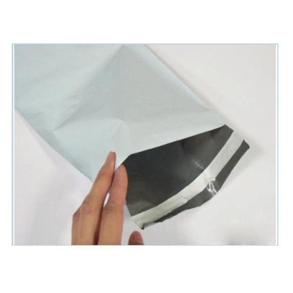 宅配袋 PE宅配袋 LL(白/グレー) 外寸:約380×480+50mm 1パック(100入り)×10