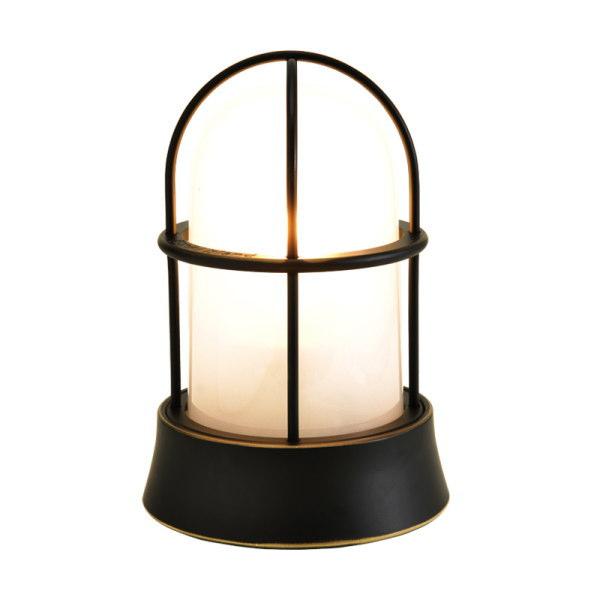 真鍮製ガーデンライト BH1000 BK FR LE(真鍮ブラック仕上/くもりガラス/LED仕様) GI1-700207