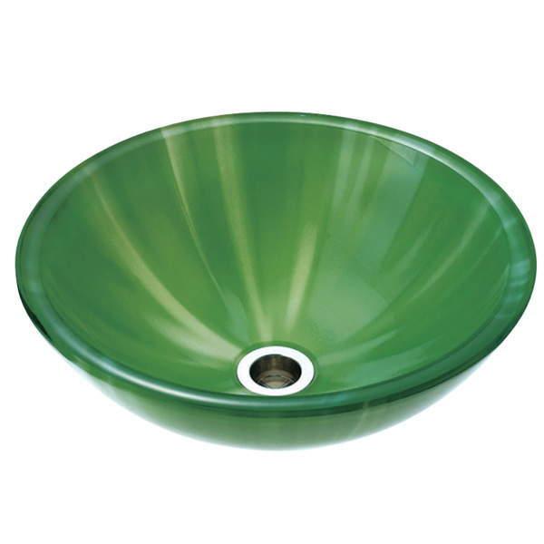 オンリーワンクラブ 強化ガラス製洗面ボウル アクア グリーン Sサイズ 径355mm NV4-A-39