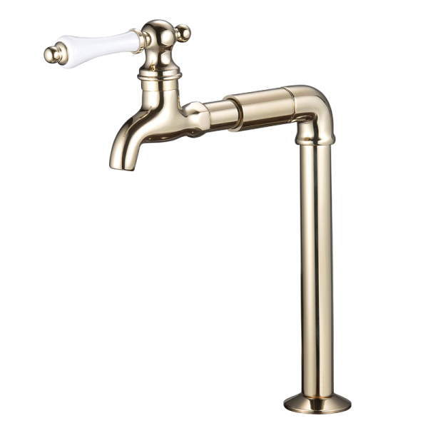 Faucet クランク型レバー式 ゴールド NV4-J-24