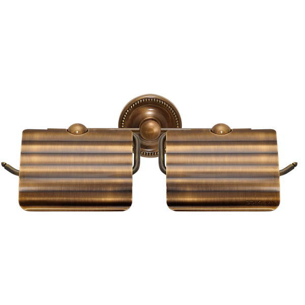 アンティーク調 サニタリーアイテム TPH PB トイレットペーパーホルダー W AB 真鍮アンティーク仕上げ W315×D155×H72・128mm GI4-640623