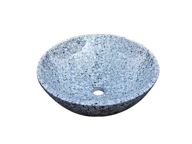 石の水鉢シリーズ 水鉢 ブルー吹雪 EC3-003