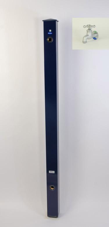 カラーアルミ立水栓蛇口付 ベロア十字 ネイビー GM3-AL204N