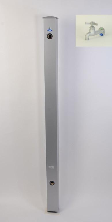 カラーアルミ立水栓蛇口付 トリアングルベロア シルバー GM3-AL211S