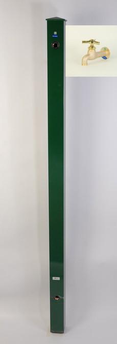 カラーアルミ立水栓ロング蛇口付 トリアングル真鍮 グリーン GM3-AL309G