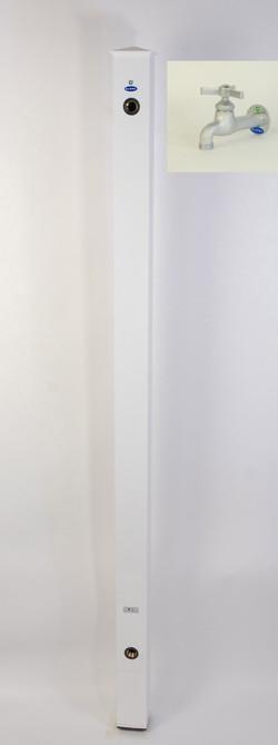 カラーアルミ立水栓ロング蛇口付 トリアングルベロア ホワイト GM3-AL311W