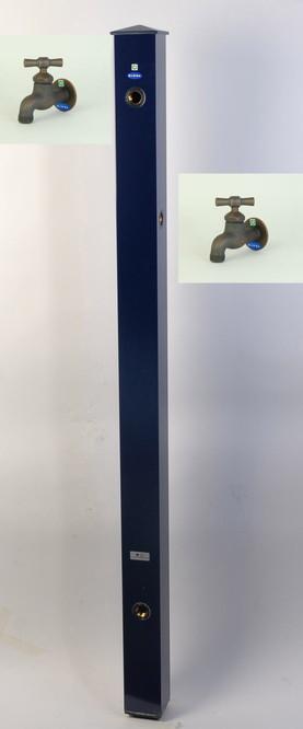 カラーアルミ立水栓補助蛇口仕様 ブロンズI字 ネイビー GM3-AL503N
