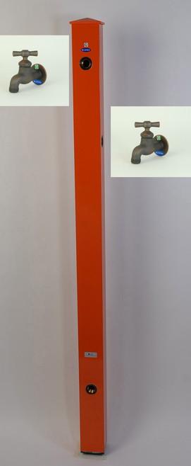 カラーアルミ立水栓補助蛇口仕様 ブロンズI字 オレンジ GM3-AL503O