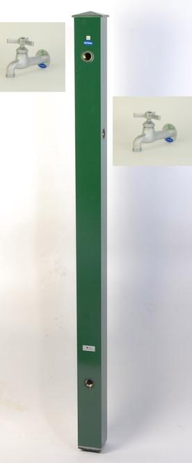 カラーアルミ立水栓補助蛇口仕様 トリアングルベロア グリーン GM3-AL511G